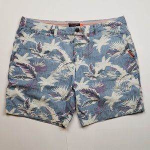 Superdry International Hawaii print shorts size 38